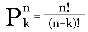 Công thức tính chỉnh hợp chập k của n